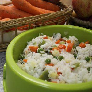 Riz aux légumes pour chiens